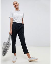 ASOS - Elasticated Clean Tapered Trouser - Lyst