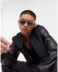 ASOS Glasses Attachment With Flame Design - Metallic