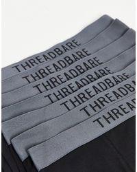 Threadbare Набор Из 7 Черных Боксеров С Серым Поясом Warden-черный Цвет
