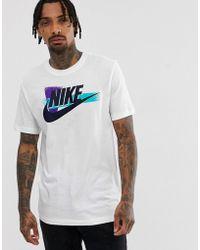 13c4b423 Nike Box Logo T-shirt In White Ar1161-100 in White for Men - Lyst