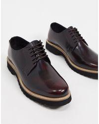 Ben Sherman Бордовые Туфли Из Полированной Кожи На Шнуровке И Массивной Подошве -красный - Многоцветный