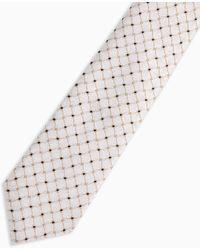 TOPMAN Tile Print Tie - Metallic