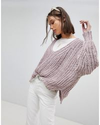 Free People - Oversized Open Knit Jumper - Lyst
