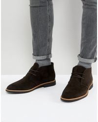 New Look | Faux Suede Desert Boot In Dark Brown | Lyst