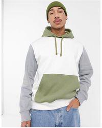 Nike – Kapuzenpullover mit Farbblock-Design - Weiß