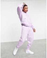 ASOS Фиолетовый Спортивный Костюм В Стиле Oversized Из Органического Хлопка С Худи И Джоггерами - Пурпурный