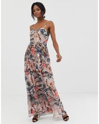 Little Mistress Cami Strap Maxi Dress - Multicolour