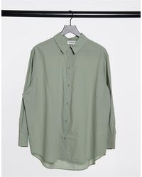 Weekday Edyn - Camicia kaki chiaro - Verde