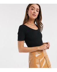 Miss Selfridge Scoop Back Bodysuit - Black
