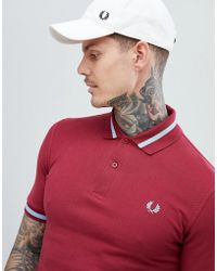 Fred Perry - Reissues Tipped Polo In Burgundy - Lyst