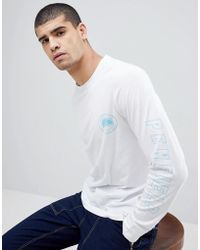 Penfield - Aloka Sleeve Logo Print Long Sleeve Top In White - Lyst