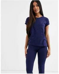 Tommy Hilfiger Set Van T-shirt Met Korte Mouwen En Logo En leggings - Blauw