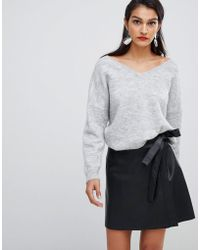 SELECTED - Femme Leather Wrap Skirt - Lyst