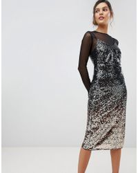 Coast - Gisella Ombre Sequined Midi Dress - Lyst