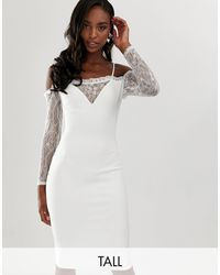JOHN ZACK PUSSY BOW IVORY DRESS WITH TIE NECK AND SASH