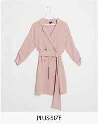 Simply Be Розовое Платье-смокинг -розовый