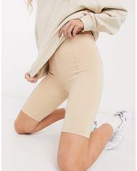 Bershka legging Shorts - Natural