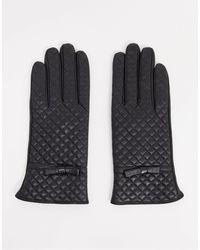 Barneys Originals Черные Стеганые Кожаные Перчатки Barney's Originals-черный