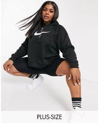 Nike Худи Swoosh В Цвете В Черных Тонах - Черный