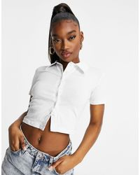 I Saw It First Short Sleeve Polo Top - White