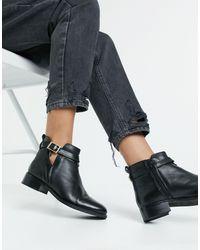 Carvela Kurt Geiger Tide Leather Cutout Buckle Boots - Black