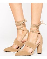 The March - Tie Up Heeled Shoes - Lyst