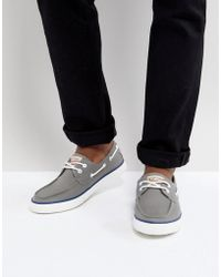 Original Penguin Boat Shoes In Grey