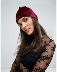 Anna Sui - Crushed Velvet Beanie - Lyst