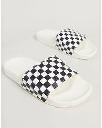 Vans Черно-белые Шлепанцы С Шахматным Узором -мульти - Многоцветный