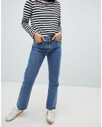 Weekday Voyage Organic Cotton Straight Leg Jean - Blue
