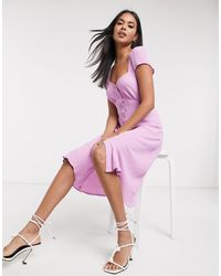 Ghost Leona Button Dress - Pink