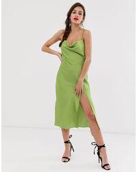 Finders Keepers Cristina Midi Slip Dress - Green