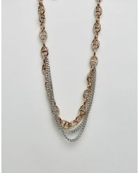Dyrberg/Kern - Dyrberg/kern Multi Layered Link Necklace - Lyst