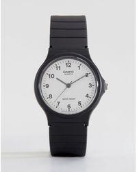 G-Shock Mq-24-7bll Analogue Resin Strap Watch - Black