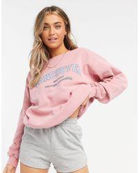 In The Style X Francesca Farago Oversized Motif Sweat - Pink