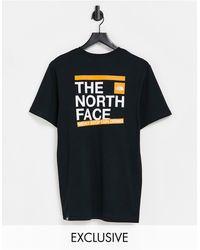 The North Face - Черная Футболка Slice – Эксклюзивно Для Asos-черный Цвет - Lyst