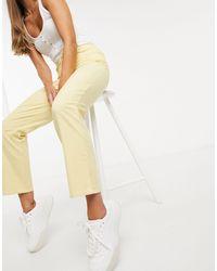 Y.A.S . Belia Highwaist Cropped Leg Trouses - Yellow