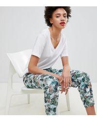 Esprit Tropical Printed Joggers - Multicolour