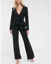 UNIQUE21 Hem Slit Trousers - Black