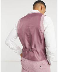 TOPMAN Slim Suit Waistcoat - Pink