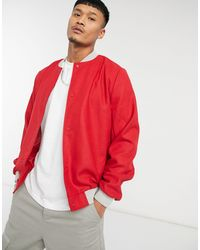 ASOS Actual - Giacca di lana rossa - Rosso