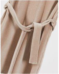 ASOS ASOS DESIGN Petite – Minikleid aus Cord mit Schulterdetail - Braun