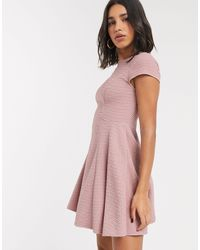 Ted Baker Robe patineuse texturée - Rose