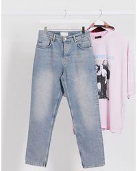 ASOS - Regular Jeans Met Hoge Taille - Lyst
