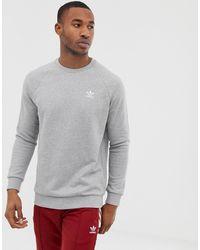 adidas Originals Серый Свитшот С Вышитым Логотипом