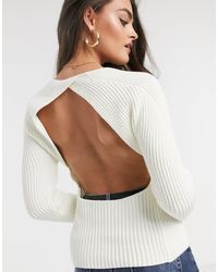 ASOS Sweater With Open Back - Black