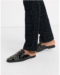 ASOS Backless Mule Loafers - Black