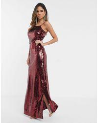 UNIQUE21 Красное Платье Макси С Пайетками И Квадратным Вырезом Unique 21-красный