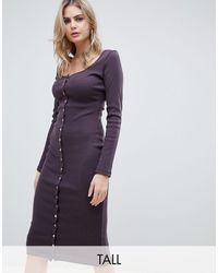 Missguided Vestido midi - Marrón