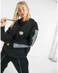 adidas Originals - Adicolour 3d Logo Three Stripe Oversized Hoodie - Lyst